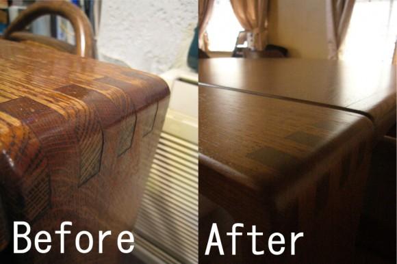 テーブルのBefore&After!